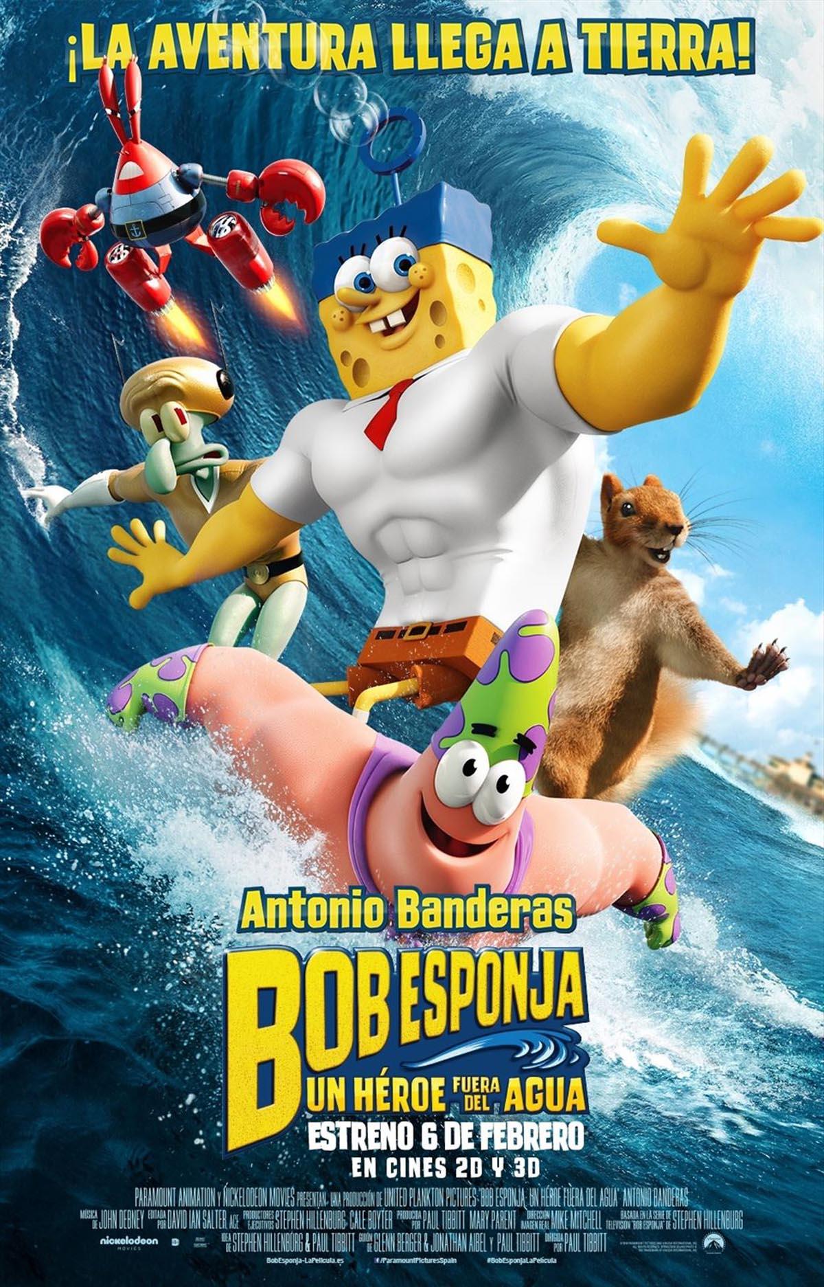 Película: Bob Esponja - Un héroe fuera del agua