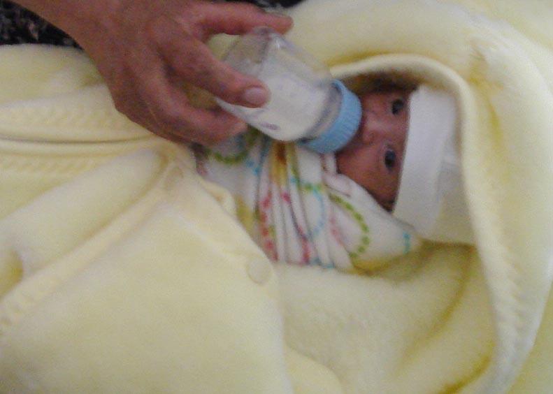 Biberón para bebés prematuros